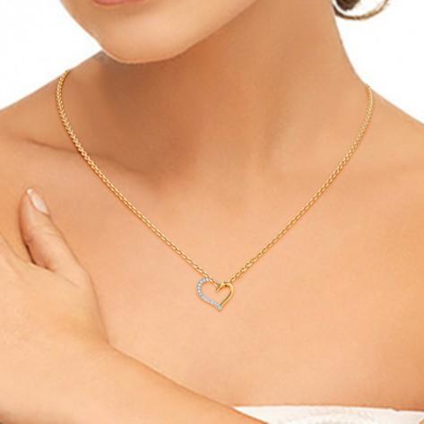 Diamond Pendant In Yellow Gold