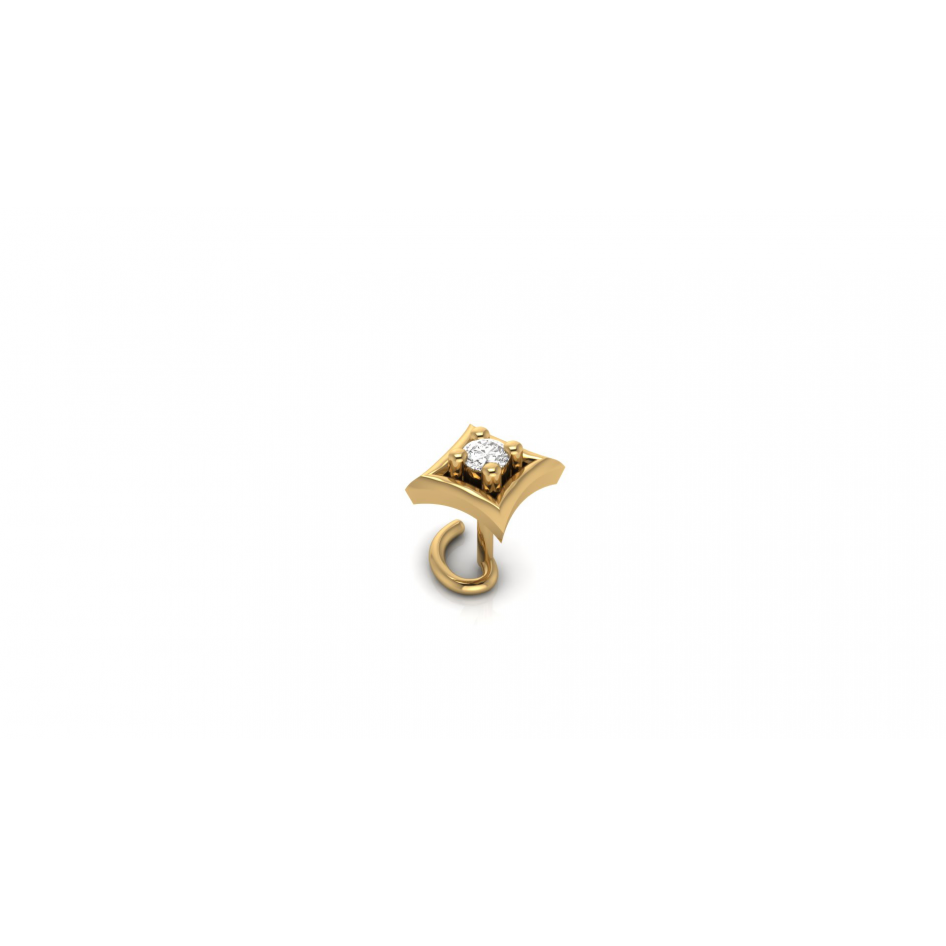 Diamond Nose Pin In Yellow Gold Nose Pins Jewellery