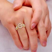 Diamond Ring In Yellow Gold