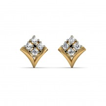 Diamond Studs In Yellow Gold