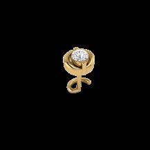 Diamond Nose Pin In Yellow Gold