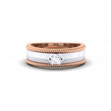 Diamond Ring In Two Tone Gold
